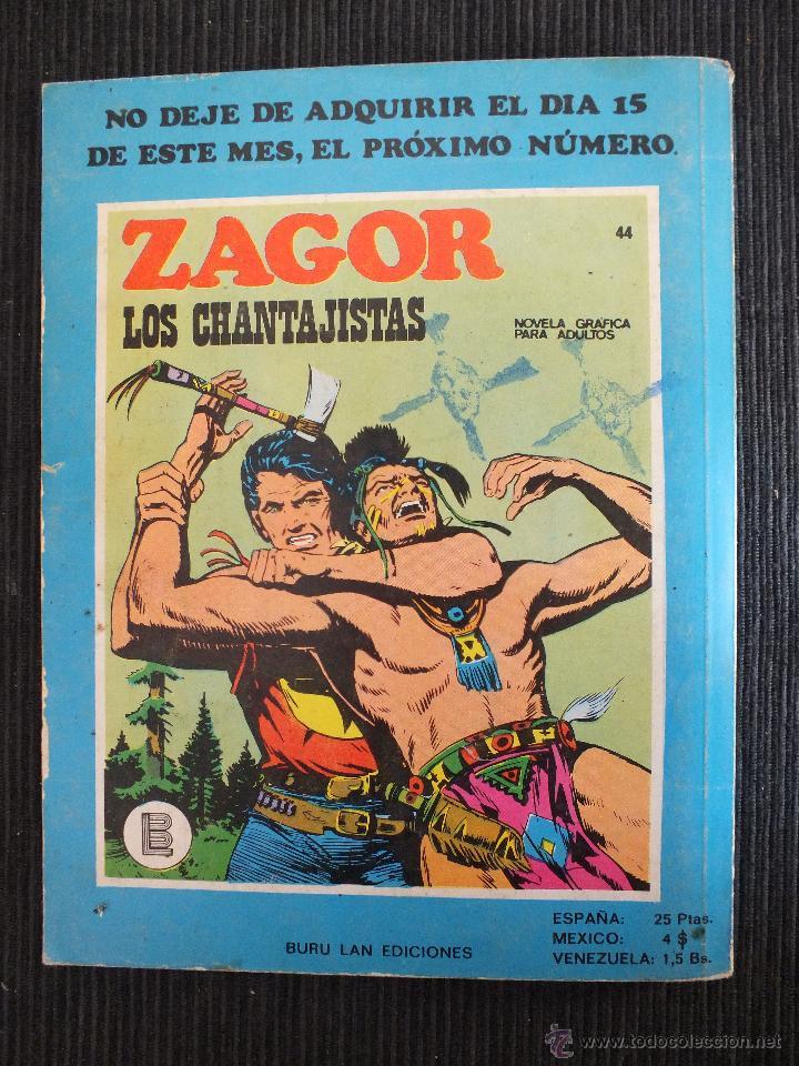 Cómics: ZAGOR Nº 43 BURULAN - Foto 2 - 49058247