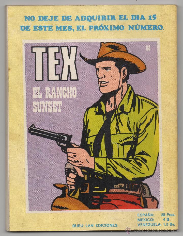 Cómics: Tex nº 87 Contraportada - Foto 3 - 49131300