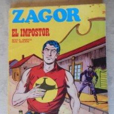 Cómics: ZAGOR Nº 21, EL IMPOSTOR. Lote 49472880