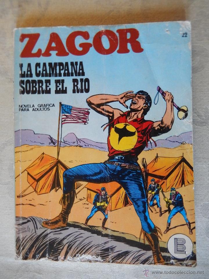ZAGOR Nº 22, LA CAMPANA SOBRE EL RIO (Tebeos y Comics - Buru-Lan - Zagor)