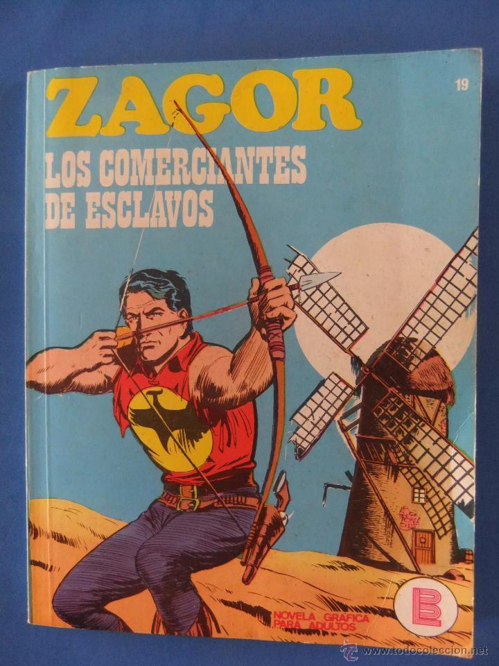 ZAGOR Nº 19 LOS TRAFICANTES DE ESCLAVOS BURULAN MUY BUEN ESTADO (Tebeos y Comics - Buru-Lan - Zagor)
