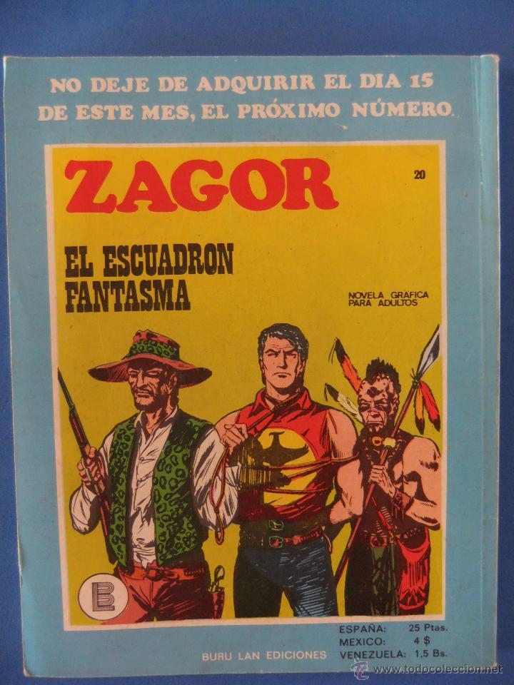 Cómics: ZAGOR Nº 19 LOS TRAFICANTES DE ESCLAVOS BURULAN MUY BUEN ESTADO - Foto 2 - 49717217