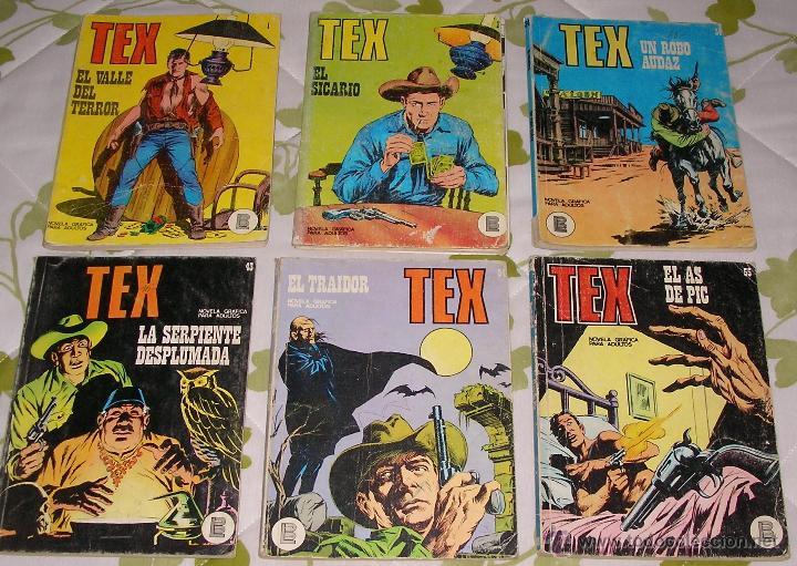 TEX 1 2 34 43 54 55 BURULAN 6 NUMEROS (Tebeos y Comics - Buru-Lan - Tex)