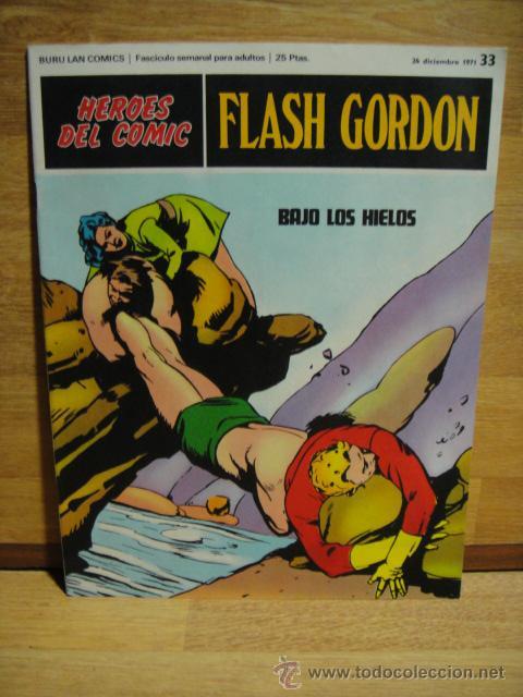 FLASH GORDON Nº 33 - HEROES DEL COMIC - BURULAN (Tebeos y Comics - Buru-Lan - Flash Gordon)
