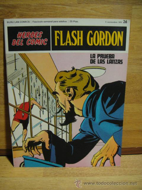 FLASH GORDON Nº 26 - HEROES DEL COMIC - BURULAN (Tebeos y Comics - Buru-Lan - Flash Gordon)