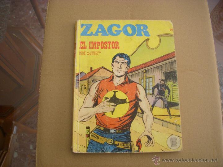 ZAGOR Nº 21, EDITORIAL BURULAN (Tebeos y Comics - Buru-Lan - Zagor)