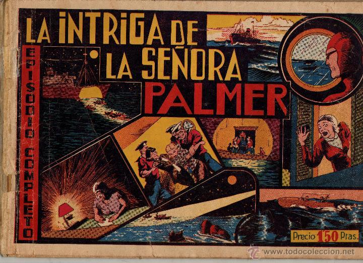 LAINTRIGA DE LA SEÑORA PALMER. LAS GRANDES AVENTURAS. CON CROMOS (Tebeos y Comics - Buru-Lan - Hombre Enmascarado)