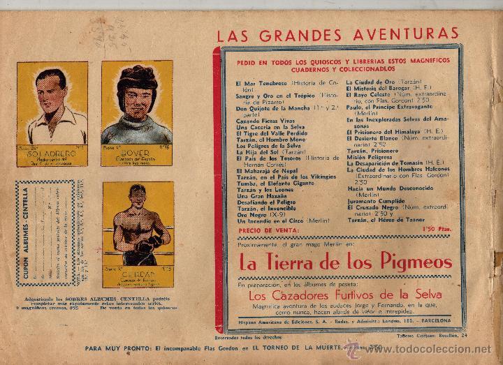 Cómics: LAINTRIGA DE LA SEÑORA PALMER. LAS GRANDES AVENTURAS. CON CROMOS - Foto 2 - 51695309