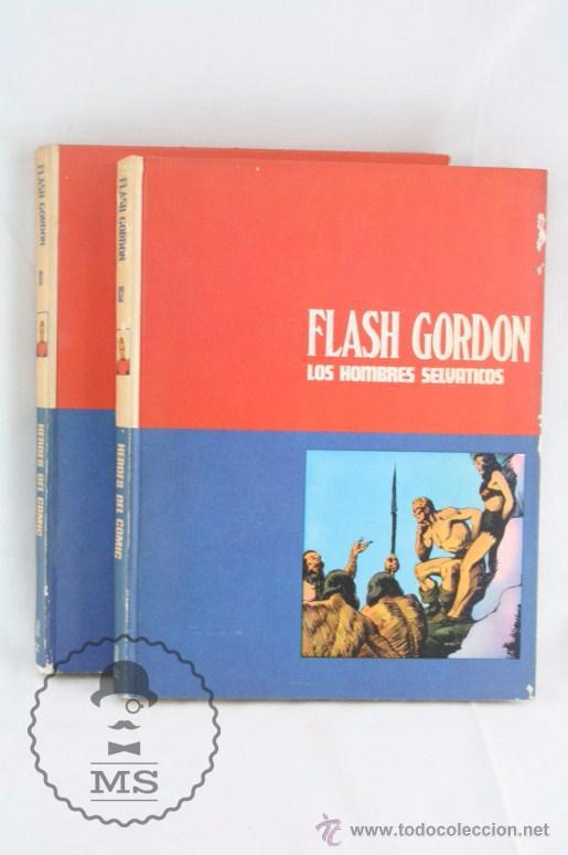 PAREJA DE TOMOS - FLASH GORDON, DE BURU LAN - TOMOS 01 Y 02 - AÑOS 70 (Tebeos y Comics - Buru-Lan - Flash Gordon)