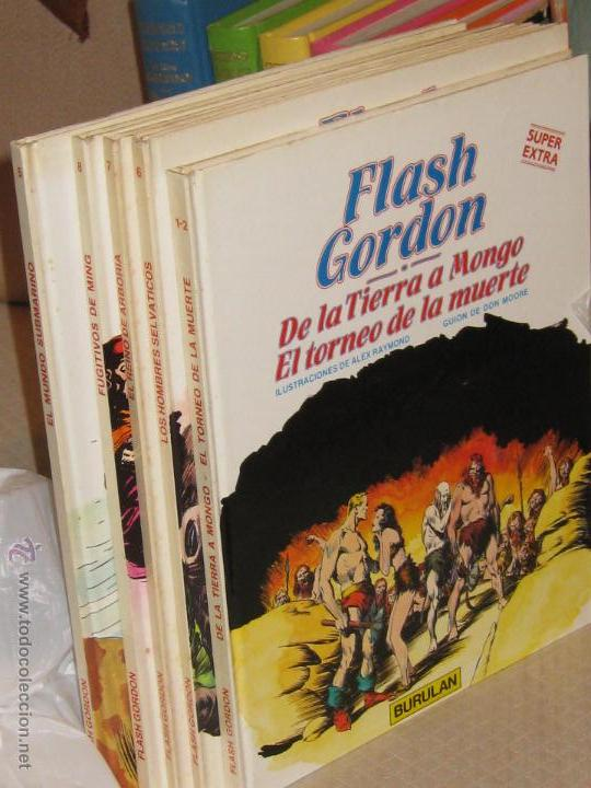 FLASH GORDON SUPER EXTRA Nº 1- 2 -5 - 6 - 7 - 8 (Tebeos y Comics - Buru-Lan - Flash Gordon)
