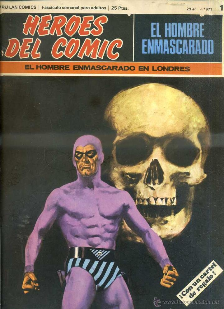 HEROES DEL COMIC HOMBRE ENMASCARADO Nº 1 (Tebeos y Comics - Buru-Lan - Hombre Enmascarado)