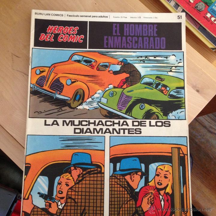 EL HOMBRE ENMASCARADO Nº 51 . HEROES DEL COMIC (BURULAN) (COIB39) (Tebeos y Comics - Buru-Lan - Hombre Enmascarado)