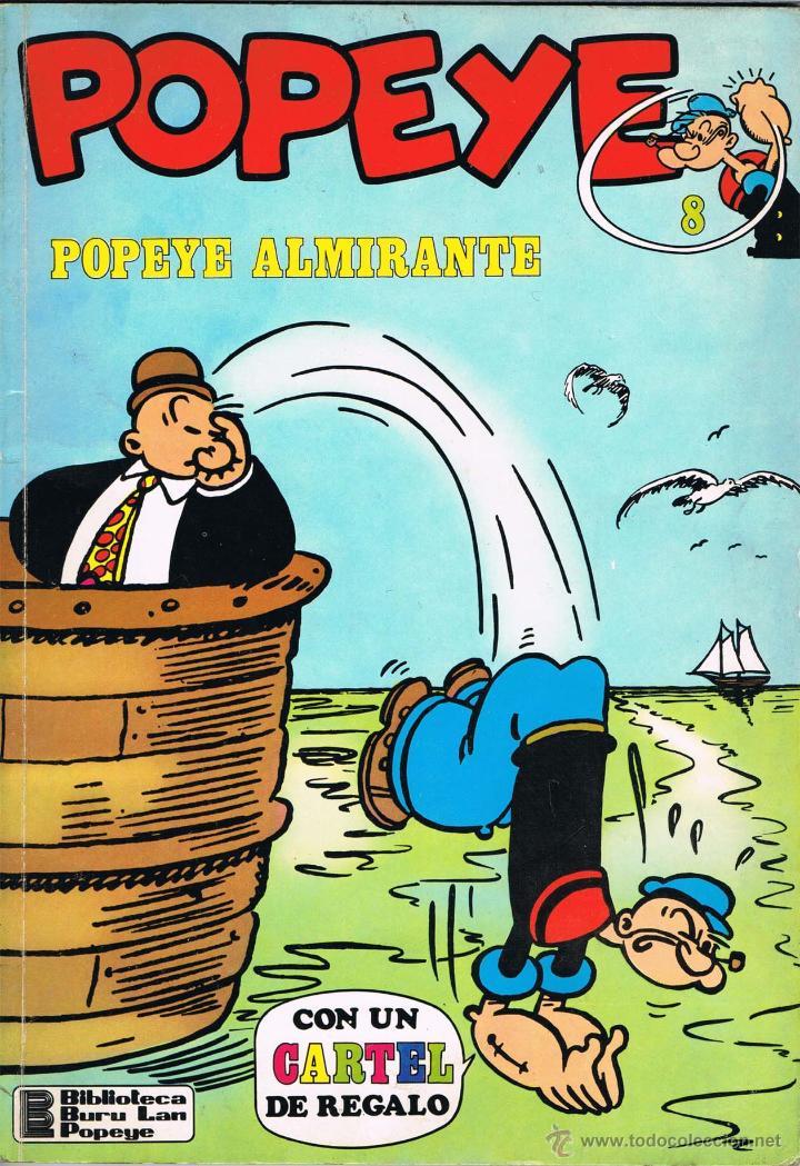 POPEYE NUMERO 8. POPEYE ALMIRANTE (Tebeos y Comics - Buru-Lan - Popeye)