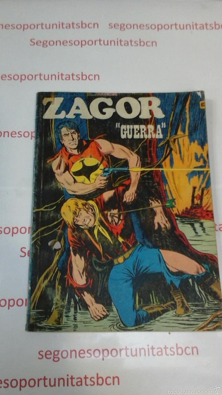 ZAGOR - N°62 GUERRA - BURU LAN - 1973 (Tebeos y Comics - Buru-Lan - Zagor)