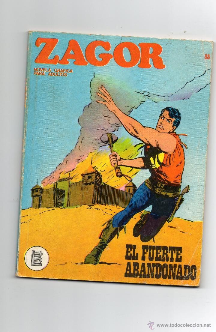 ZAGOR - Nº 33 - EL FUERTE ABANDONADO - BURULAN - BUEN ESTADO. (Tebeos y Comics - Buru-Lan - Zagor)