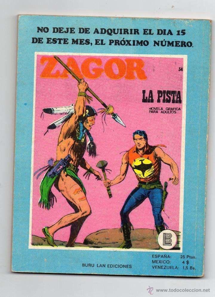 Cómics: ZAGOR - Nº 33 - EL FUERTE ABANDONADO - BURULAN - BUEN ESTADO. - Foto 2 - 53577486