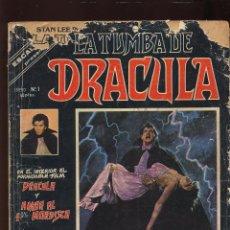 Cómics: COMIC - LA TUMBA DE DRACULA - NUMERO 1 - EDICIONES VERTICE - AÑO 1980 - (REF-SAMUMEESQES4). Lote 53668406