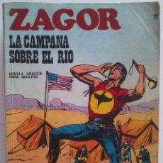 Cómics: ZAGOR LA CAMPANA SOBRE EL RIO NÚMERO 22. Lote 54504286