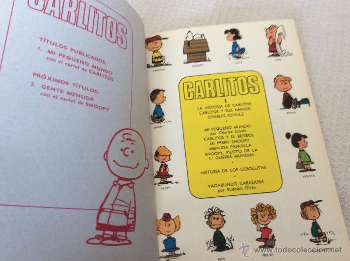 Cómics: CARLITOS (snoopy) numero 1 con CARTEL - Foto 2 - 54651169