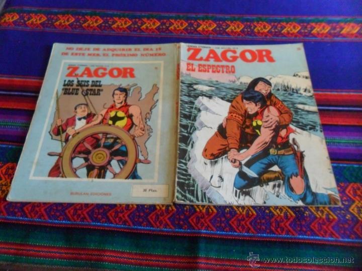 Cómics: ZAGOR Nº 75 EL PENÚLTIMO. EL ESPECTRO. BURU LAN 1974 30 PTS. . MUY DIFÍCIL!!!!! - Foto 2 - 39383306