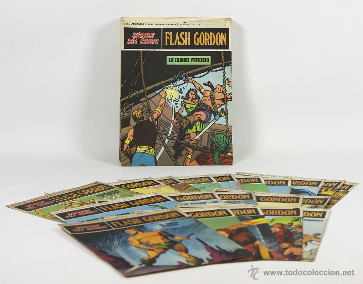 7081 - HEROES DEL COMIC,FLASH GORDON. 22 EJEMPLARES,20 TAPAS(VER DESCRIP). 1973. (Tebeos y Comics - Buru-Lan - Flash Gordon)