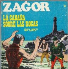 Cómics: ZAGOR: Nº 25. LA CABAÑA SOBRE LAS ROCAS. BURU LAN EDICIONES. Lote 55146165