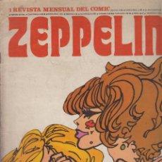 Cómics: ZEPPELIN Nº 1 REVISTA MENSUAL DEL COMIC - EDITA : BURU LAN EDICIONES 1974. Lote 57619130