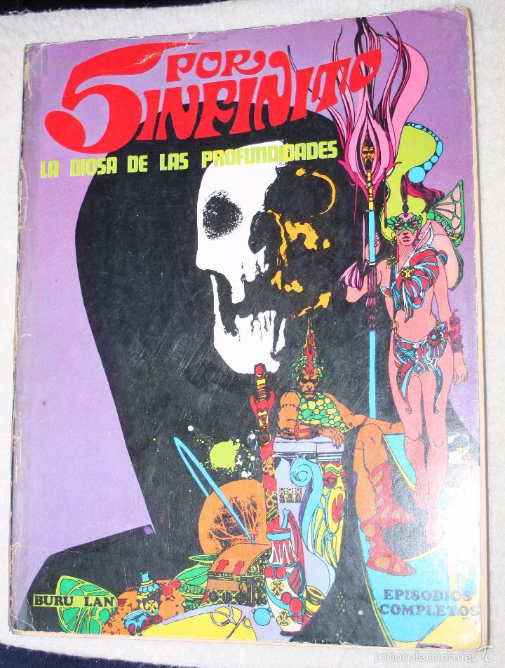 5 POR INFINITO - LA DIOSA DE LAS PROFUNDIDADES: TOMO DE 240 PÁGINAS EPISODIOS COMPLETOS ( EXCELENTE) (Tebeos y Comics - Buru-Lan - Rahan)
