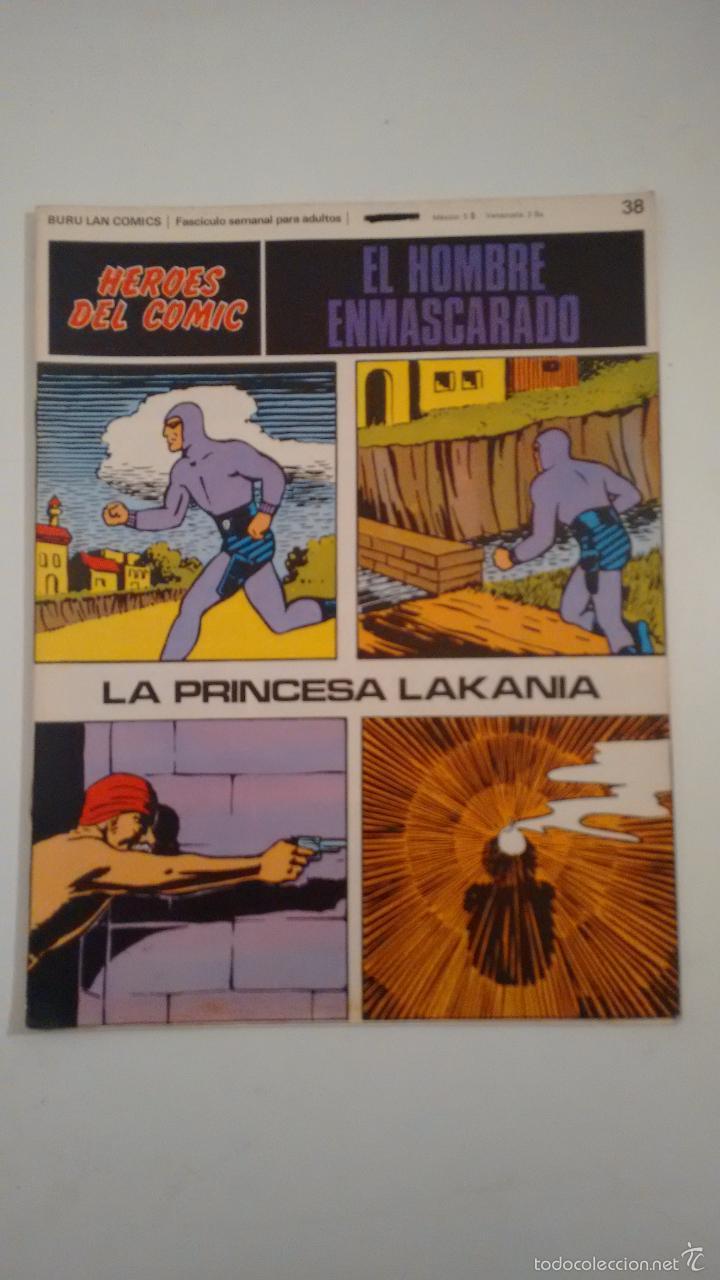 HEROES DEL COMIC. EL HOMBRE ENMASCARADO Nº 38. LA PRINCESA LAKANIA. 1971 BURU LAN. (Tebeos y Comics - Buru-Lan - Hombre Enmascarado)