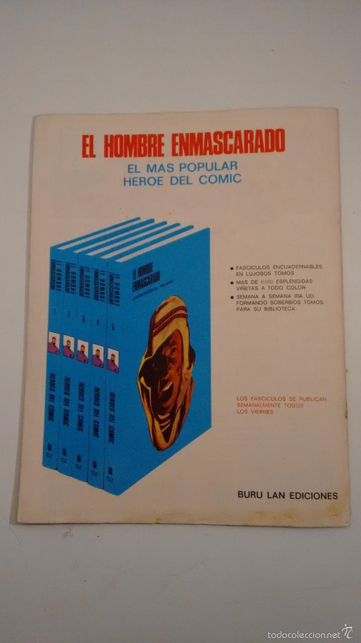 Cómics: HEROES DEL COMIC. EL HOMBRE ENMASCARADO Nº 38. LA PRINCESA LAKANIA. 1971 BURU LAN. - Foto 3 - 58381815