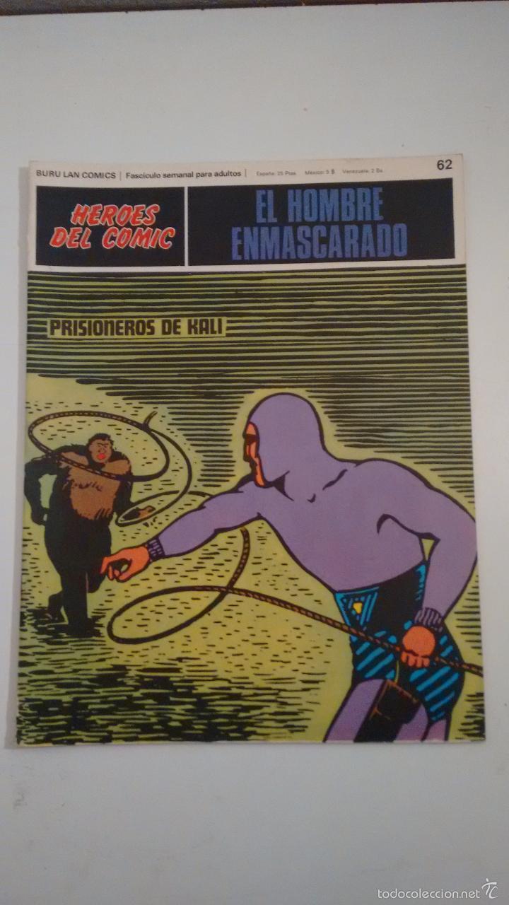 HEROES DEL COMIC. EL HOMBRE ENMASCARADO Nº 62. PRISIONEROS DE KALI. 1972 BURU LAN. (Tebeos y Comics - Buru-Lan - Hombre Enmascarado)