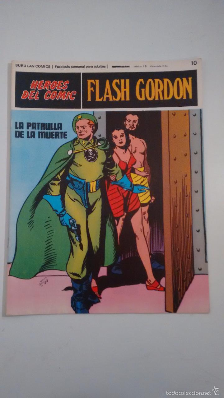HEROES DEL COMIC. FLASH GORDON Nº 10. LA PATRULLA DE LA MUERTE. 1971 BURU LAN. (Tebeos y Comics - Buru-Lan - Flash Gordon)