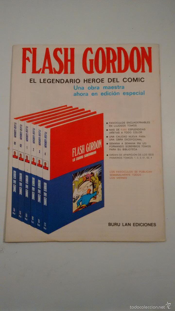 Cómics: HEROES DEL COMIC. FLASH GORDON Nº 10. LA PATRULLA DE LA MUERTE. 1971 BURU LAN. - Foto 2 - 58382129