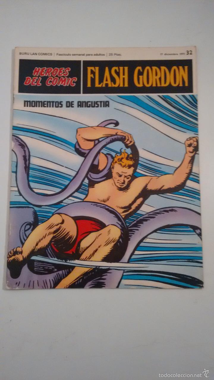 HEROES DEL COMIC. FLASH GORDON Nº 32. MOMENTOS DE ANGUSTIA. 1971 BURU LAN. (Tebeos y Comics - Buru-Lan - Flash Gordon)