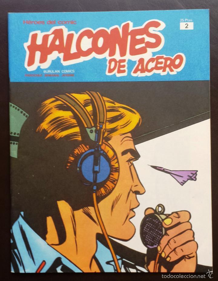 HALCONES DE ACERO HÉROES DEL CÓMIC TOMO 1 Nº 2 BURULAN EDICIONES 1974 AÑOS 70 (Tebeos y Comics - Buru-Lan - Halcones de Acero)