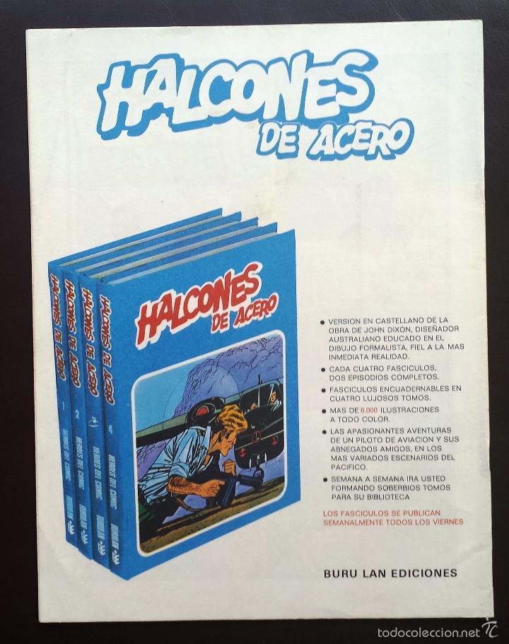 Cómics: HALCONES DE ACERO Héroes del cómic Tomo 1 Nº 2 BURULAN Ediciones 1974 Años 70 - Foto 2 - 58428469