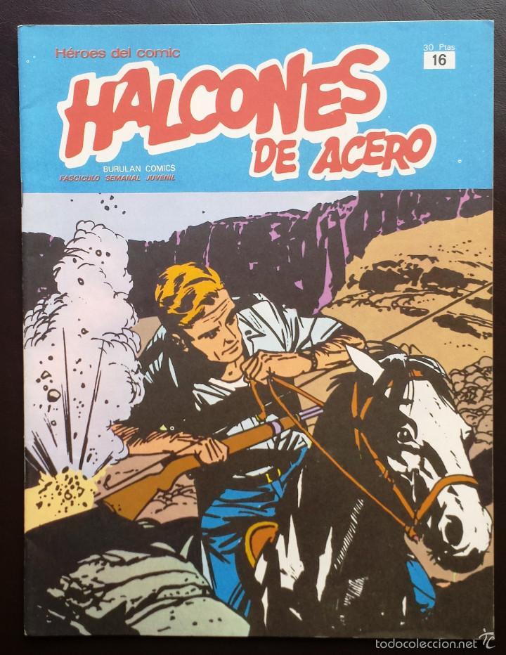 HALCONES DE ACERO HÉROES DEL CÓMIC TOMO 2 Nº 16 BURULAN EDICIONES 1974 AÑOS 70 (Tebeos y Comics - Buru-Lan - Halcones de Acero)
