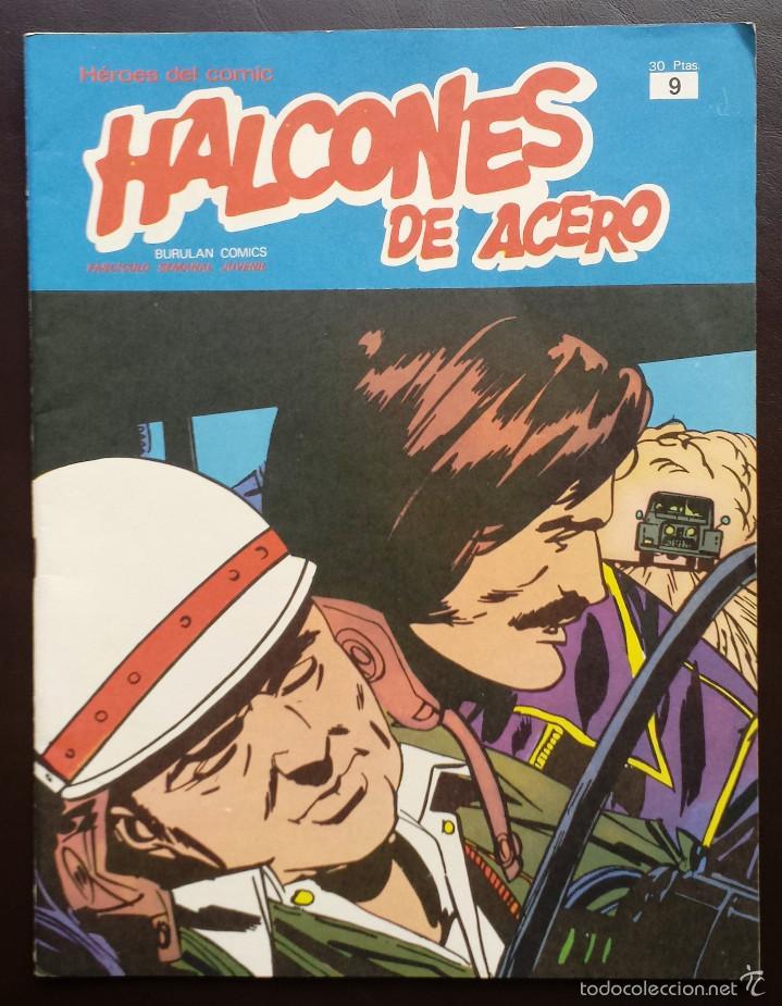 HALCONES DE ACERO HÉROES DEL CÓMIC TOMO 1 Nº 9 BURULAN EDICIONES 1974 AÑOS 70 (Tebeos y Comics - Buru-Lan - Halcones de Acero)