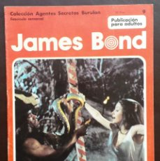 Cómics: JAMES BOND COLECCIÓN AGENTES SECRETOS TOMO 1 Nº 9 BURULAN EDICIONES 1974 AÑOS 70. Lote 58428843