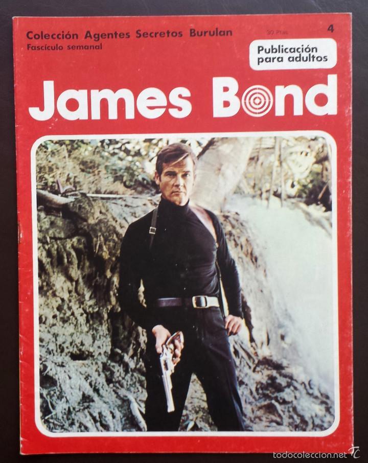 JAMES BOND COLECCIÓN AGENTES SECRETOS TOMO 1 Nº 4 BURULAN EDICIONES 1974 AÑOS 70 (Tebeos y Comics - Buru-Lan - James Bond)