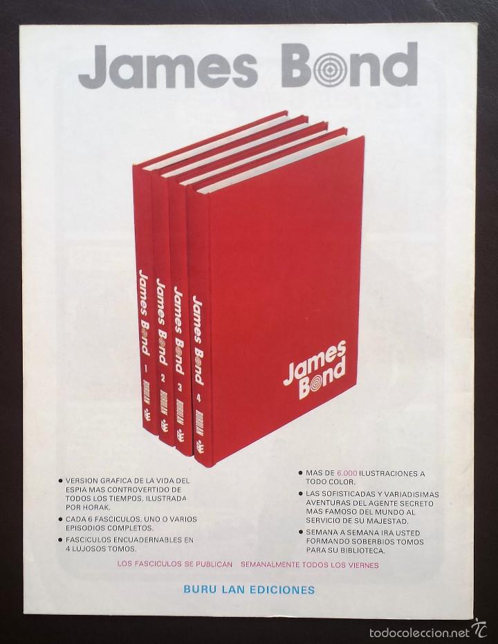 Cómics: JAMES BOND Colección Agentes Secretos Tomo 1 Nº 4 BURULAN Ediciones 1974 Años 70 - Foto 2 - 58428923