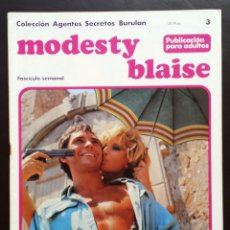 Cómics: MODESTY BLAISE COLECCIÓN AGENTES SECRETOS TOMO 1 Nº 3 BURULAN EDICIONES 1974 AÑOS 70. Lote 58429218