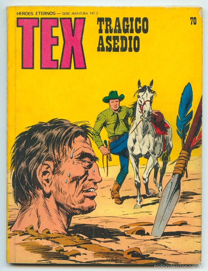 TEX - Nº 70 - TRÁGICO ASEDIO - BURU LAN - 1973 (Tebeos y Comics - Buru-Lan - Tex)