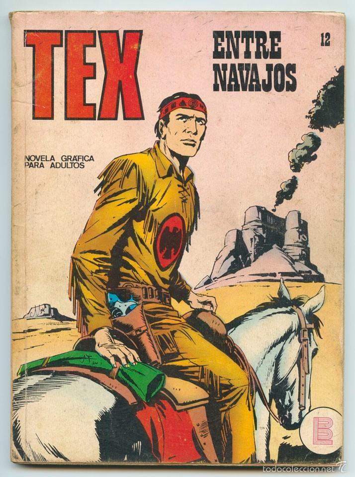 TEX - Nº 12 - ENTRE NAVAJOS - BURU LAN - 1971 (Tebeos y Comics - Buru-Lan - Tex)