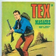 Cómics: TEX - Nº 24 - MASACRE - BURU LAN - 1971. Lote 61355180
