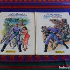 Cómics: EL HOMBRE ENMASCARADO NºS 2 Y 3. BURU LAN 1983. INVASIÓN Y EL HÉROE DEL OLAN. TAPA DURA.. Lote 61832312
