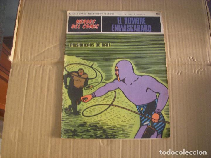 EL HOMBRE ENMASCARADO Nº 62, HEROES DEL COMIC, EDITORIAL BURULAN (Tebeos y Comics - Buru-Lan - Hombre Enmascarado)