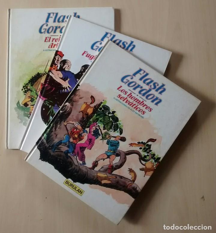 FLASH GORDON - EL REINO DE ARBORIA, LOS HOMBRES SELVÁTICOS, FUGITIVOS DE MING - ED. BURULAN 1983 (Tebeos y Comics - Buru-Lan - Flash Gordon)