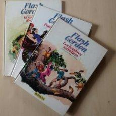 Cómics: FLASH GORDON - EL REINO DE ARBORIA, LOS HOMBRES SELVÁTICOS, FUGITIVOS DE MING - ED. BURULAN 1983. Lote 63551528