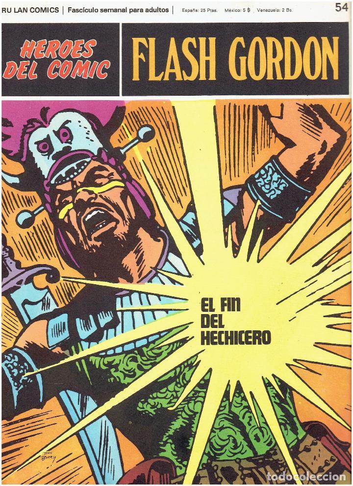 FLASH GORDON-HEROES DEL COMIC DE BURU LAN COMICS Nº 54 (Tebeos y Comics - Buru-Lan - Flash Gordon)